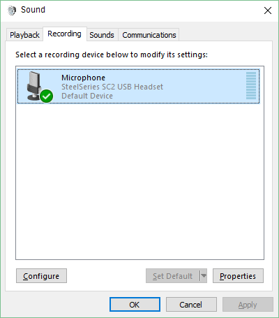 I got SteelSeries Engine and no microphone